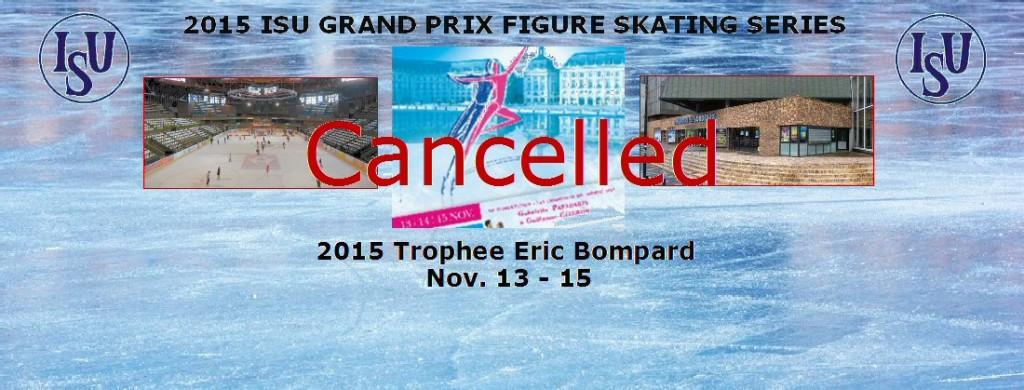 2015 ISU Grand Prix Series Trophee Eric Bompard FB Cover CANCELLED